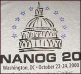 T-shirt for NANOG20