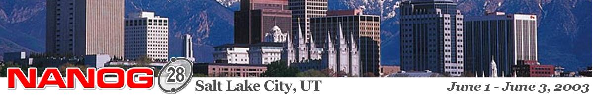 Meeting 28 in Salt Lake City, Utah, 2003-06-01