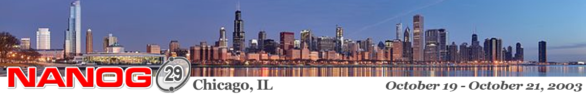Meeting 29 in Chicago, Illinois, 2003-10-19