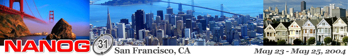 Meeting 31 in San Francisco, California, 2004-05-23