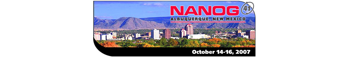 Meeting 41 in Albuquerque, New Mexico, 2007-10-14