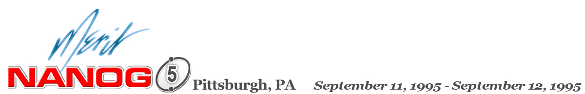 Meeting 5 in Pittsburgh, Pennsylvania, 1995-09-11