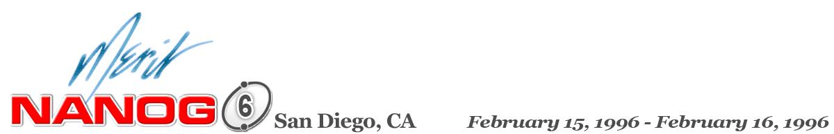 Meeting 6 in San Diego, California, 1996-02-15