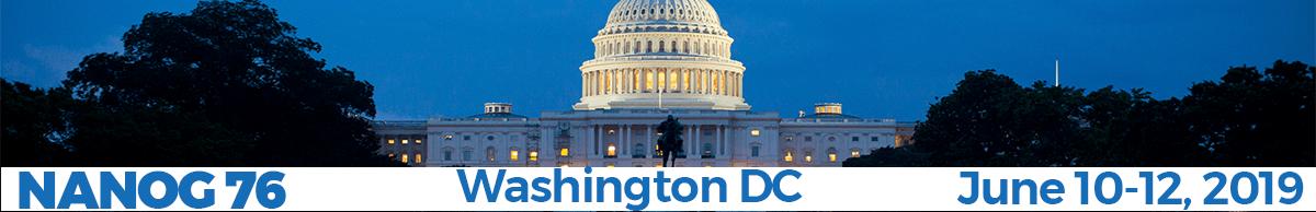 Meeting 76 in Washington, DC, 2019-06-10