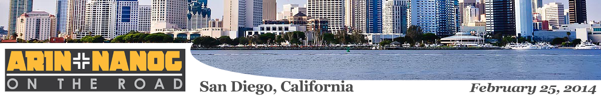 Meeting 2 in San Diego, CA, 2014-02-25