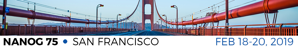 Meeting 75 in San Francisco, CA, 2019-02-18