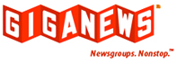 Giganews logo and link