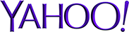 Yahoo logo and link